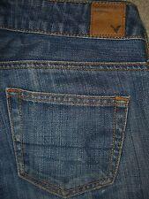 AMERICAN EAGLE Boy Fit 100% Cotton Blue Denim Jeans Womens Size 00 x 25