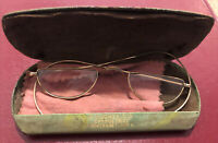 Antique Gold Eyeglasses Spectacles with case from RJ Jones Winterset, Iowa