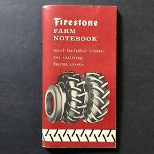 Firestone Farm Notebook Vtg 1962 Farmer Tires Cutting Farm Costs Blank Pages