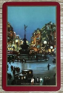 """Vintage Swap / Playing Card """" Piccadilly Circus """" Excellent Condition"""