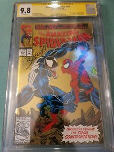 Amazing Spider-Man #375 CGC 9.8/White Pages - Signed by Mark Bagley!