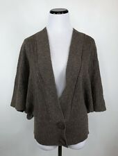 Moth Anthropologie Women's Size S Brown Short Sleeve V Neck Wool Sweater
