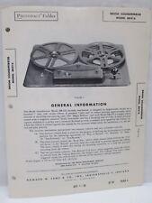 Sams Photofact Folder Radio Parts Manual Brush Soundmirror BK416 Tape Recorder