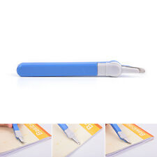 Staple Remover Push Style Remover Professional Staple School Office Tool Blue MW