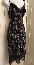 diane von furstenberg Margarit Silk Lace Trim Slip Dress Size 8