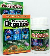 Limpia Organos Complete Organ Detox Kidney Liver Colesterol Lungs 100 Tablets