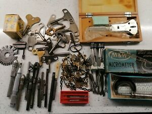 Superb Collection Of vintage Watchmakers Tools and instruments and keys