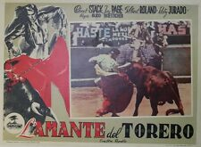 """LA DAME & LE TOREADOR (BULLFIGHTER & THE LADY)"" Affiche ent. R. STACK,G. ROLAND"