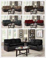 The Room Style 2-Tone Microfiber Sofa & Loveseat Set, 5 Colors Available