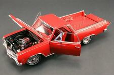 ACME 1965 CHEVROLET EL CAMINO RALLY RED DIECAST CAR / PICKUP 1:18 A1805403