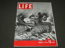 1940 JANUARY 22 LIFE MAGAZINE - DUTCH EAST INDIANS COVER - L 164
