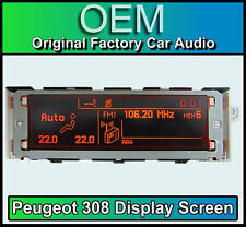 Peugeot 308 display screen, RD4 stereo LCD Multi function clock dash Brand New!!
