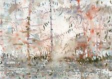 watercolor painting aquarelle original Picture(30x21)cm0166 PL Landschaft