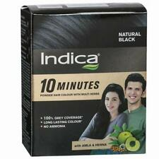 Indica 2in1 Herbal Hair Colour DIY 10 Minutes With Amla & Henna Natural Black 5g 8
