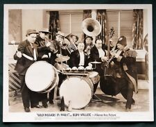 "Rudy Vallee in ""Gold Diggers in Paris"" - lot of 2 vintage 8x10 movie photographs"