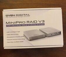 MiniPro RAID V3 USB-C (USB 3.1) Type-C Dual Bay Hard Drive SSD Enclosure