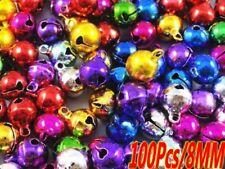 100pcs Mix Jingle Christmas Bells Loose Beads Charms Jewelry Marking 8mm New