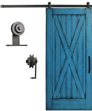 Sliding Cabinet/Barn Door Hardware Kit 6.6 feet Steel Track Top Mount Roller bdd
