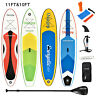 10'/11' Inflatable Stand up Paddle Board SUP Surfboard Adjustable Fin Paddle