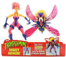 "Marvel Spider-Man Spider Force Transforming WASP 5"" Action Figure Toy Biz 1997"