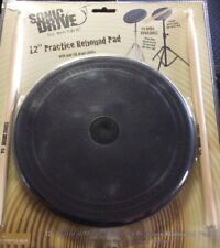 "12"" Practice Rebound Pad And Drumsticks - New"