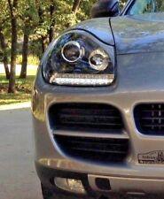Porsche Cayenne 955  RIGHT HAND DRIVE Black Projector Headlights set LED DRL