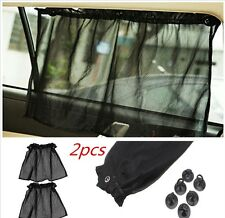 2× Car Sun Shade Side Mesh Window Curtain Sunshade Visor W/ Sucker UV Protection
