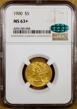 1900 NGC MS63+ $5 Liberty Gold Half Eagle - CAC Stickered