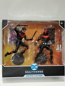 "McFarlane DC Comics Multiverse NIGHTWING & RED HOOD Scene 7"" Figure USA In Stock"