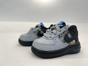 NIKE FORCE 1 LV8 KSA (TD) CQ4218 001 Toddler SIZE  4 Gray Blue Black New W/O Box