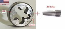 Lighthouse Tools® - Adjustable HSS die 5/8-24RH + Thread alignment tool .223