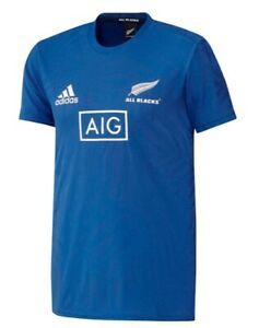 Adidas All Blacks New Zealand Rugby Shirt Jersey Blue Size XL New With Label