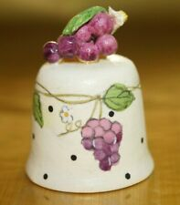 HAND PAINTED THIMBLE - GRAPE TOP
