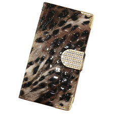 For HTC One M9 Crocodile Leopard Leather Wallet Case Flip Cover + Screen Guard