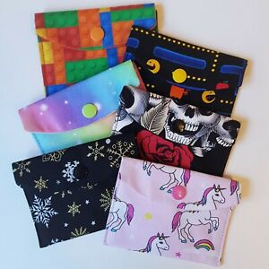 Mini Fabric Coin Purse / Headphones Pouch - Christmas Gift Card Stocking Filler