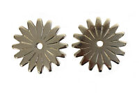 Western Spur Rowels 1 3/4 Inch large Silver 16pt Sold In Pair Cowboy Accessories
