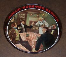 1936 Fidelio * Home Keg Service .Vintage Metal Beer tray .The Greater Ny Br