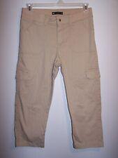 Lee Relaxed Fit Tan Cargo Capris, Ladies Size 10 Medium, Item #233