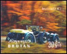 """BHUTAN 128E - Antique Automobiles """"British Invicta"""" (pf3092)"""