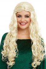 `Medieval Dragon Goddess Wig, Blonde, Long with Plaits` (US IMPORT) COST-ACC NEW