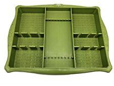 Vintage Profile by Oneida Avocado Green Plastic Flatware Organizer Holder Tray