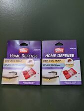 Two 2 Packs Ortho Home Defense Bed Bug Trap  - 4 Strip Total