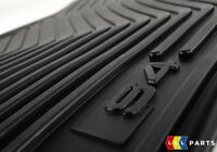 NEW GENUINE AUDI A4 S4 2008-2016 FRONT FLOOR BLACK RUBBER MATS PAIR LHD