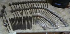 85 Piece Set of IS American Stainless USA Flatware American Flare 16p. Setting