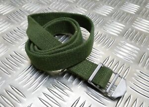 Genuine Vintage Military Issue Green Canvas Webbing Issued Utility Pack Strap