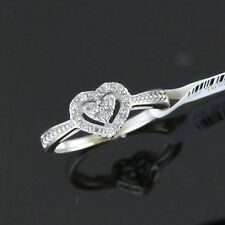 NYJEWEL 10k Gold Brand New Heart Shape 0.25ct Diamond Ring Great Gift