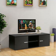 Modern TV Unit TV Cabinet TV Stand Black Matt Finish and Shelf LED LCD TV Table
