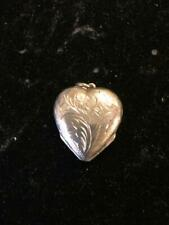 STERLING SILVER HEART PICTURE LOCKET PENDANT FOR 4 PICTURES
