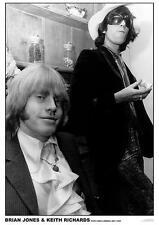 "ROLLING STONES POSTER ""BRIAN JONES & KEITH RICHARDS LONDON 1968"""