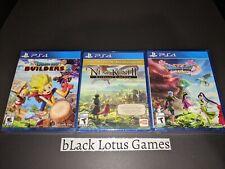 3 New Ps4 Games Bundle Dragon Quest Xi Builders 2 Ni No Kuni Ii Collector's Ed.